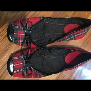 Sam & Libby plaid ballet flats